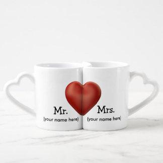 Tasses de café faites sur commande de mariage