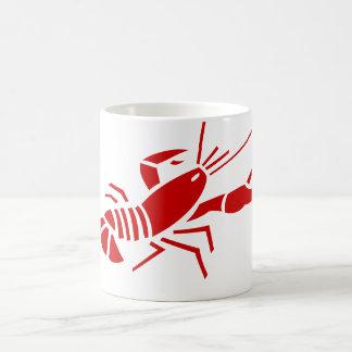 Tasses de café rouges de homard