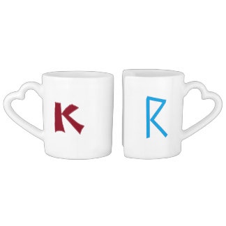 Tasses de couples de K et de R