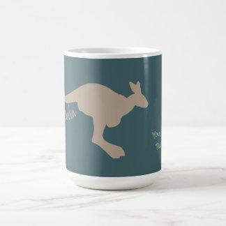 Tasses de coutume de kangourou de l'Australie