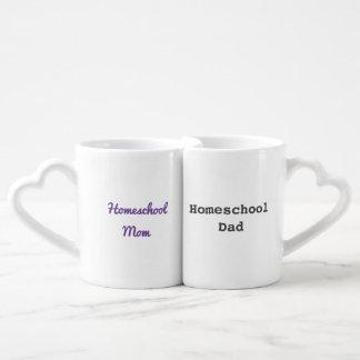 Tasses de maman et de papa de Homeschool