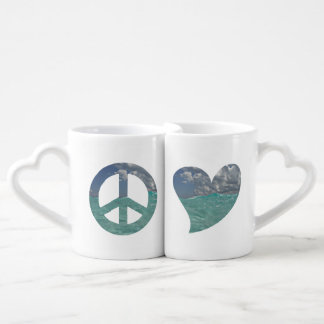 Tasses de paix et d'amour de Grand Cayman