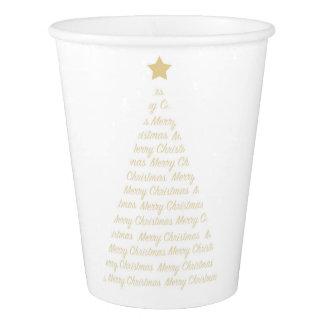 Tasses de papier d'arbre de Noël Gobelets En Papier