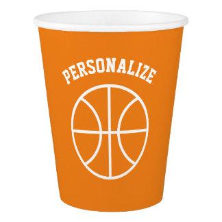 Tasses de papier de basket-ball de partie faite gobelets en papier