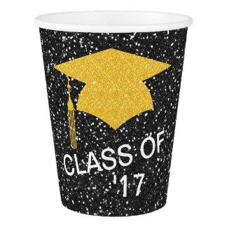 Tasses de papier de fête de remise des diplômes gobelets en papier