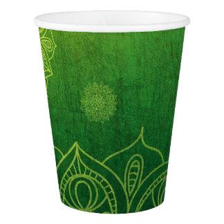 Tasses de papier de Forest Green de partie Gobelets En Papier