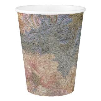 Tasses de papier de tapisserie de fleur d'amande gobelets en papier