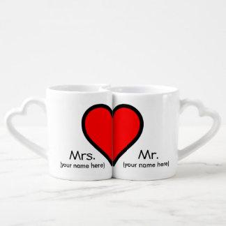 Tasses de tasse de café de M. et de Mme Lover's