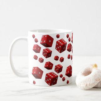 Tasses rouges de matrices de thé de café pour