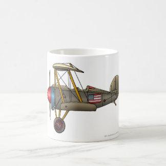 Tasses vintages de biplan d'avion