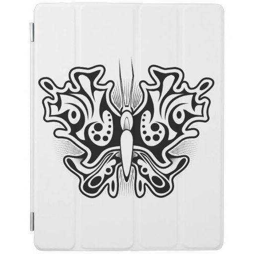 tatouage de papillon noir et blanc protection ipad zazzle. Black Bedroom Furniture Sets. Home Design Ideas