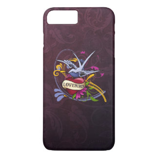 Tatouage de perruche coque iPhone 8 plus/7 plus