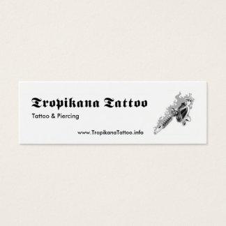Tatouage de Tropikana Mini Carte De Visite
