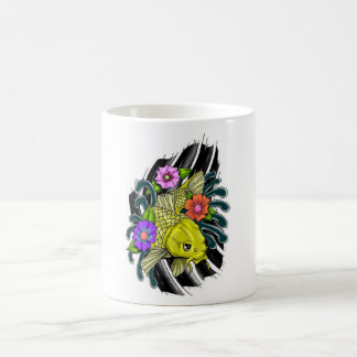tatouage effarouché de carpe mug