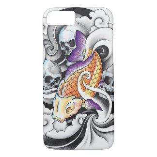 Tatouage oriental frais de crâne de carpe de Koi Coque iPhone 7