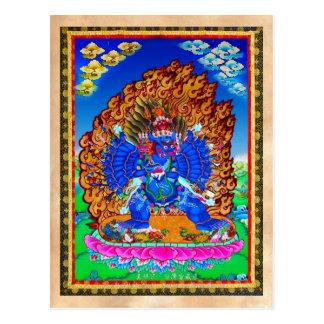 Tatouage tibétain oriental frais de Yamantaka de Carte Postale