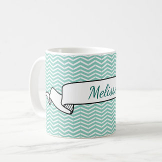 Tatouage vert et blanc en bon état de bande mug