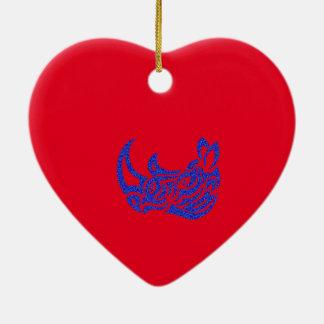 Tatouages tribaux extraordinairement espiègles ornement cœur en céramique