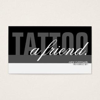 tatouez un recouvrement d'ami cartes de visite
