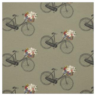 Taupe de tissu de ressort de fleur de bicyclette