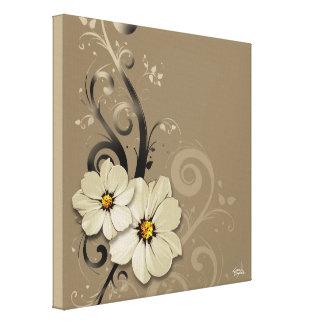 Taupe floral fleuri du Flourish | Toiles