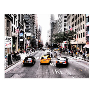 Taxis du centre de New York Carte Postale