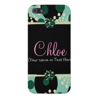 Teal Girly et pois Coque iPhone 5