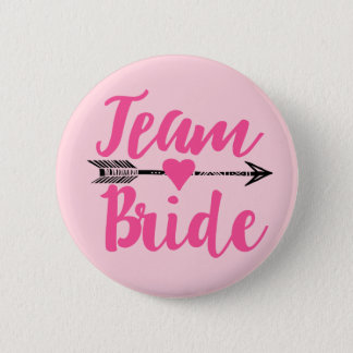 Team Bride|Pink Ronde Button 5,7 Cm