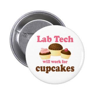 Technologie drôle de laboratoire de conception de  badge rond 5 cm