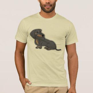 Teckel en couleurs t-shirt