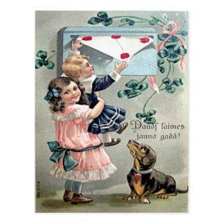 Teckel vintage de Valentine Carte Postale