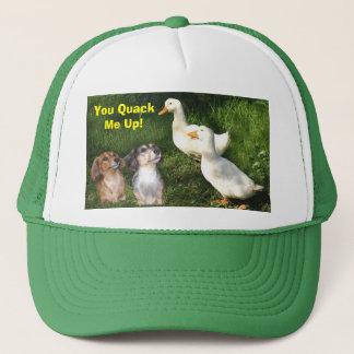 Teckels et casquette de canards