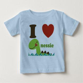 Tee - shirt de bébé de Nessie de coeur du monstre T-shirt Pour Bébé