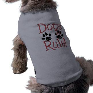 Tee - shirt de Pawprint de règle de chiens Manteau Pour Toutous