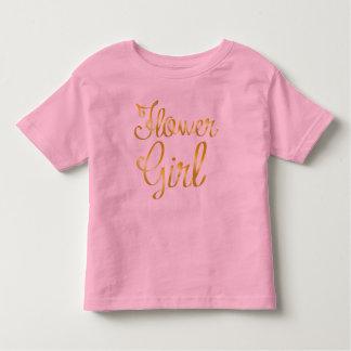 Tee - shirt de rose d'or de demoiselle de honneur t-shirt pour les tous petits