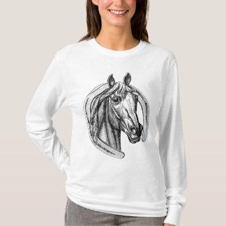 Tee - shirt vintage de cheval et de fer à cheval t-shirt