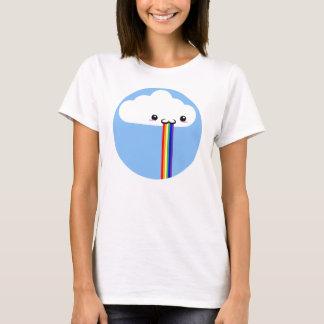 Tee - shirt vomissant d'arc-en-ciel de nuage t-shirt