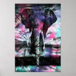 Teignez en nouant l'affiche d'éléphant