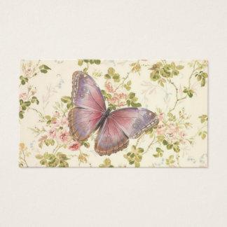 Télécartes chics minables de papillon et de vignes cartes de visite