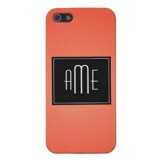 Téléphone de monogramme iPhone 5 case