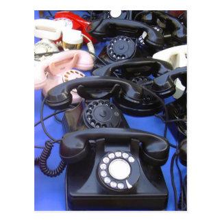 Téléphone rotatoire carte postale