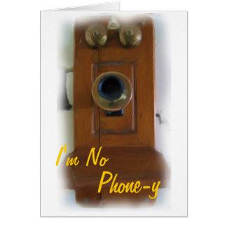 """Téléphone vintage """"je ne suis carte d'amour"""