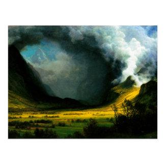 Tempête d'Albert Bierstadt dans la carte postale
