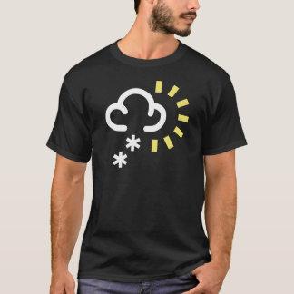 Tempête de neige : Rétro symbole de prévisions T-shirt