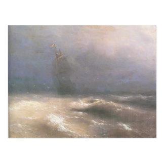 Tempête d'Ivan Aivazovsky- par la côte de Nice Carte Postale