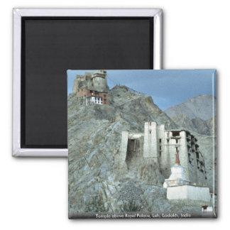Temple au-dessus de Royal Palace, Leh, Ladakh, Aimant