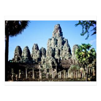 Temple de Bayon dans Angkor, Cambodge Carte Postale
