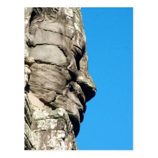 Temple de Bayon dans Angkor Cambodge un visage Carte Postale