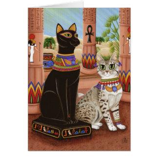Temple de carte d'art de chat de déesse de filasse