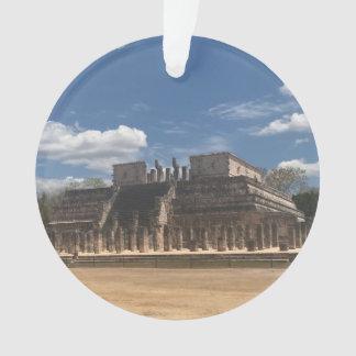 Temple de Chichen Itza de l'ornement de guerriers